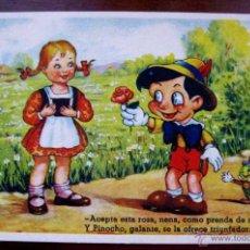 Postales: ANTIGUA POSTAL DE PINOCHO - ED. COLON . SERIE 107/10 - EDITORIAL POLITIPIA ARTISTICA, FLORIA MILL - . Lote 38263283