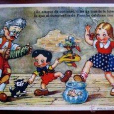 Postales: ANTIGUA POSTAL DE PINOCHO - ED. COLON . SERIE 107/5 - EDITORIAL POLITIPIA ARTISTICA, FLORIA MILL - S. Lote 38263284