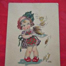 Postales: AÑO 1942. POSTAL NIÑA QUIEN MUCHO ABARCA, POCO APRIETA. Lote 40570003