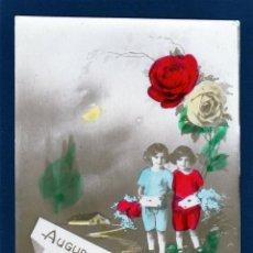 Postales: POSTALES ANTIGUAS DE NIÑOS. TARJETA POSTAL INFANTIL, TEMA NIÑAS.. Lote 40697786