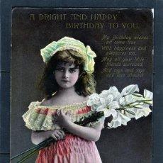 Postales: POSTALES ANTIGUAS DE NIÑOS. BONITA TARJETA POSTAL INFANTIL NIÑA, TEMA NIÑAS. CIRCULADA 1909. Lote 40730095