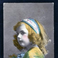 Postales: POSTALES ANTIGUAS DE NIÑOS. BONITA TARJETA POSTAL INFANTIL NIÑA, TEMA NIÑAS. CIRCULADA 1919. Lote 40730954