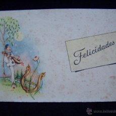 Postales: POSTAL FELICITACIÓN SIN CIRCULAR ED. PABLO DÜMMATZEN BARCELONA, SERIE 1557. Lote 41306227