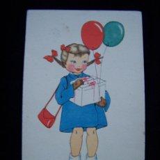 Postales: POSTAL NIÑA SIN CIRCULAR ILUSTRADOR ANA ED J.B.R SERIE Nº 63 ¿ME AYUDA USTED, POR FAVOR?. Lote 41307613
