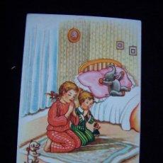 Postales: POSTAL NIÑOS SIN CIRCULAR ED PABLO DÜMMATZEN BARCELONA SERIE 1360 ...Y RUEGA POR NOSOTROS, PECADORES. Lote 41307906