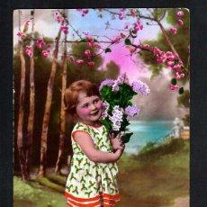 Cartes Postales: ANTIGUA POSTAL COLOREADA. NIÑA. CIRCULADA .. Lote 41367316