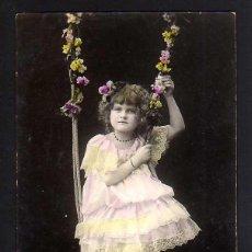 Cartes Postales: ANTIGUA POSTAL COLOREADA. NIÑA. CIRCULADA .. Lote 41367378
