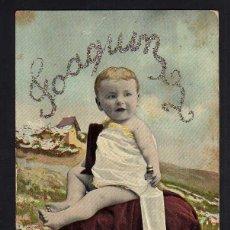 Postales: ANTIGUA POSTAL. BEBE. CIRCULADA 1909 .. Lote 41367473