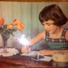 Postales: POSTAL NIÑA ESCRIBIENDO - 13044/F - NO ESCRITA - 1958. Lote 41372096