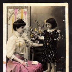 Postales: ANTIGUA POSTAL MADRE E HIJA. NO CIRCULADA. . Lote 42669512