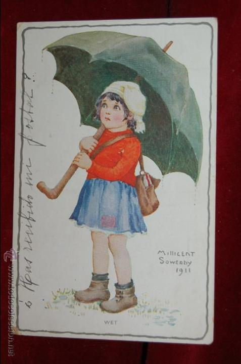 ANTIGUA POSTAL INFANTIL DEL ILUSTRADOR MILLICENT SOWERBY. CIRCULADA (Postales - Postales Temáticas - Niños)