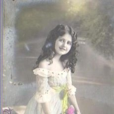 Postales: POSTAL DE UN NIÑA- - DIRIGIDA A BARCELONA . Lote 42934835