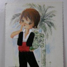 Postales: POSTAL SIN CIRCULAR NIÑO TRAJE COSIDO HILO RELIEVE ILUSTRADOR GALLARDA. Lote 43002943