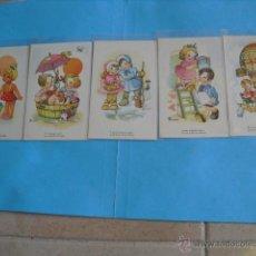 Postales: 5 POSTALES DE NIÑOS,. Lote 43363540