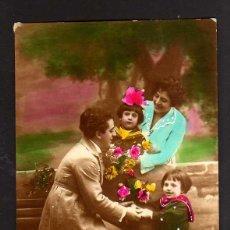 Postales: ANTIGUA POSTAL. FAMILIA. CIRCULADA 1920. Lote 43369888