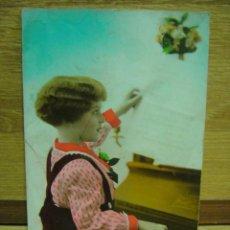 Postales: NIÑO TOCANDO EL PIANO - POSTAL ESCRITA. Lote 43732515