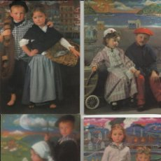 Postales: PRECIOSA COLECCION DE POSTALES ANTIGUAS DE 1981 DE ESCENAS INFANTILES DE NAVARRA O VASCAS VER FOTOS. Lote 45470843