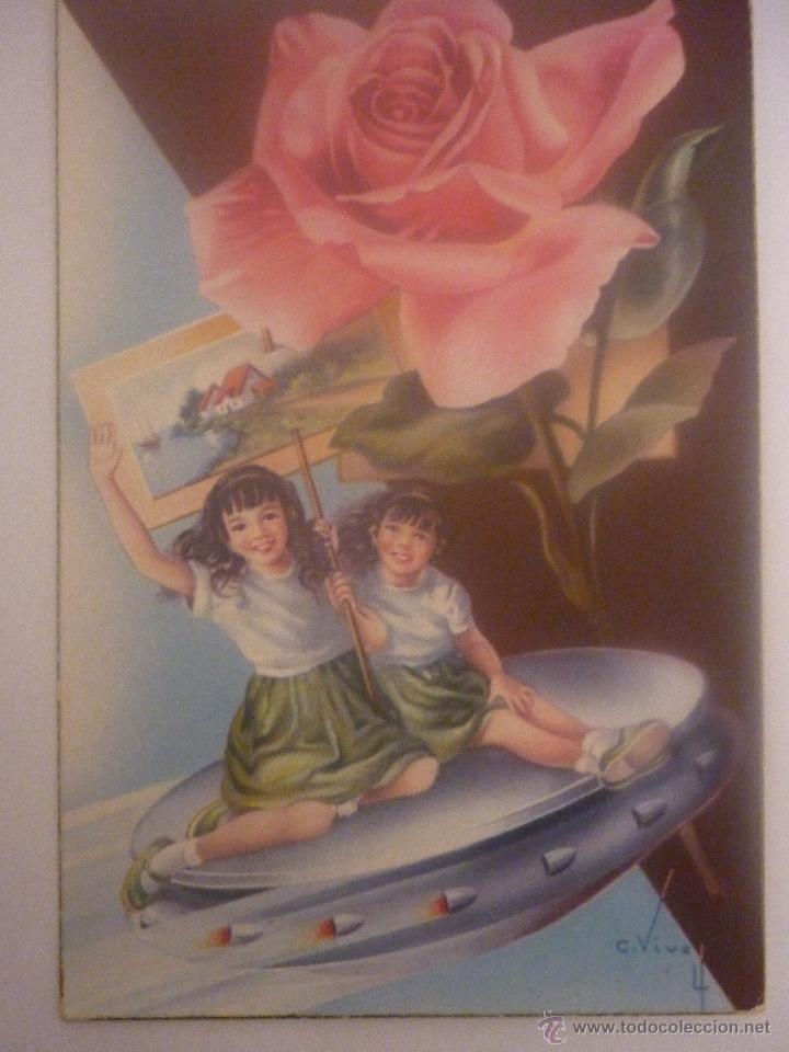 POSTAL EN COLOR. ESPAÑA. C. VIVE 4. EDITOR CYZ SERIE 525/B 1961 (Postales - Postales Temáticas - Niños)