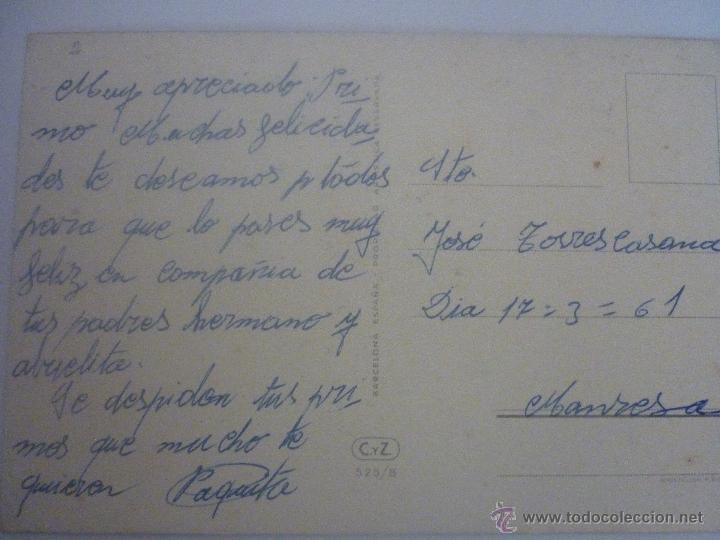 Postales: POSTAL EN COLOR. ESPAÑA. C. VIVE 4. EDITOR CyZ SERIE 525/B 1961 - Foto 2 - 45488268
