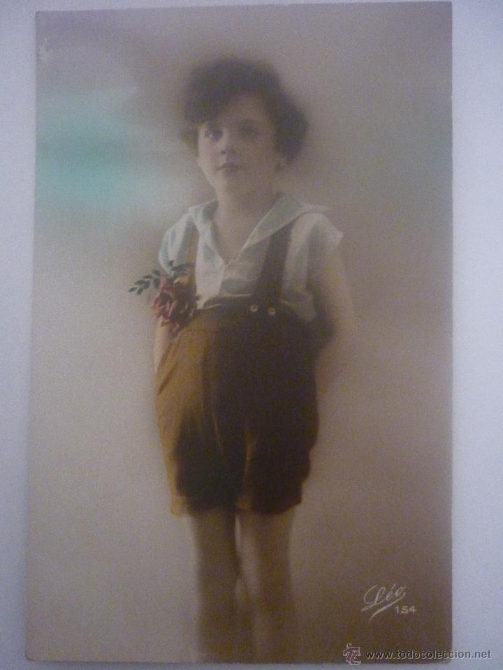 PRECIOSA POSTAL EN COLOR. FRANCESA. EDITOR LÉO. SERIE 154 AÑO 1912 (Postales - Postales Temáticas - Niños)