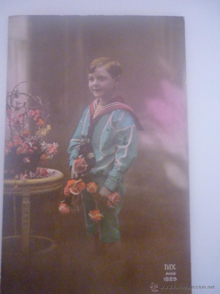 PRECIOSA POSTAL EN COLOR. FRANCESA. EDITOR DIX PARIS SERIE 1829 SIN CIRCULAR AÑO 1905 (Postales - Postales Temáticas - Niños)