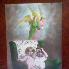 Postales: POSTAL ESCRITA SIN SELLO PPOS S XX NIÑO Y NIÑA . Lote 45515958