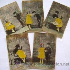 Postales: ANTIGUAS POSTALES FOTOGRÁFICAS : MILITAR EN ACCIÓN, SERIE COMPLETA DE 5.. Lote 45827007