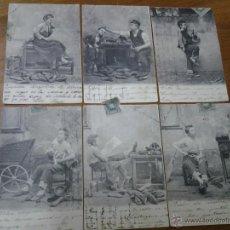 Postales: LOTE ANTIGUAS TARJETAS POSTALES TRIEBEL DIRIGIDAS A LOS MOLINOS CARTAGENA MURCIA 1903. Lote 45994318