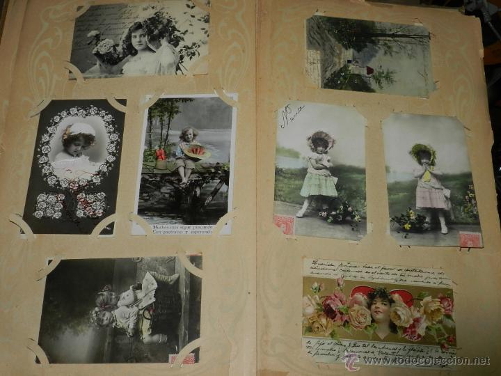 Postales: ALBUM DE TARJETAS POSTALES CON 130 POSTALES. LA GRAN MAYORIA DE NIÑOS CON DISEÑOS MODERNISTAS, PERO - Foto 8 - 46164386