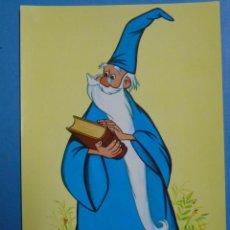 Postales: POSTAL DE NIÑOS, DIBUJOS. WALT DISNEY. MERLÍN EL ENCANTADOR. COLECCION PERLA. AÑO 1980. 708. Lote 134036251