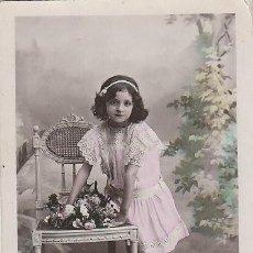 Postales: NIÑA, CIRCULADA EN 1917. Lote 47485275