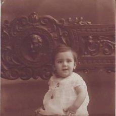 Postales: BEBE SENTADO. FOTO MATEO, MURCIA. 3 AGOSTO 1924. . Lote 47588372