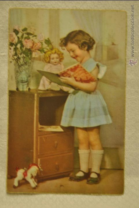 POSTAL DE LOS AÑOS 5O (Postales - Postales Temáticas - Niños)