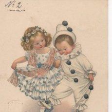 Postales: POSTALES ANTIGUAS. BONITA TARJETA POSTAL INFANTIL PAREJA DE NIÑOS DISFRAZADOS. CIRCULADA AÑO 1913. Lote 48695553