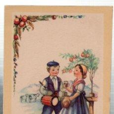 Postales: TARJETA POSTAL INFANTIL, NIÑOS CON TRAJES REGIONALES DE PAIS VASCO. LAIETANA. Lote 49411554