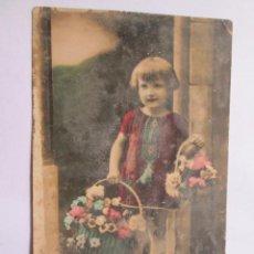 Postales: NIÑA - GIRL - 1933 DEDICADA MONTEVIDEO, ABUELA. Lote 49534724