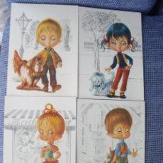 Postales: 4 POSTALES INFANTILES--CARICATURA-NUEVAS. Lote 49918203