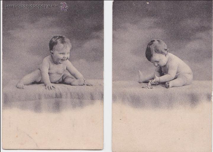 P- 1994. SERIE DE 2 POSTALES FOTOGRAFICAS DE NIÑOS. (Postales - Postales Temáticas - Niños)