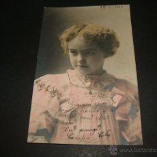 Postales: NIÑA POSTAL 1903. Lote 50337134