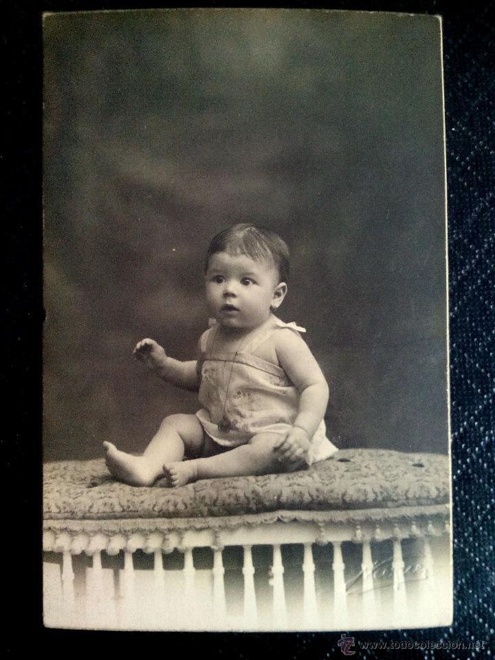 TARJETA POSTAL FOTOGRÁFICA RETRATO DE NIÑA ESTUDIO NIEPCE BARCELONA 1925 (Postales - Postales Temáticas - Niños)