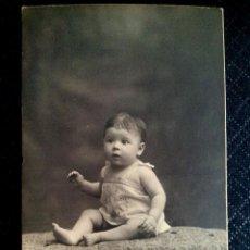 Postales: TARJETA POSTAL FOTOGRÁFICA RETRATO DE NIÑA ESTUDIO NIEPCE BARCELONA 1925. Lote 50496382