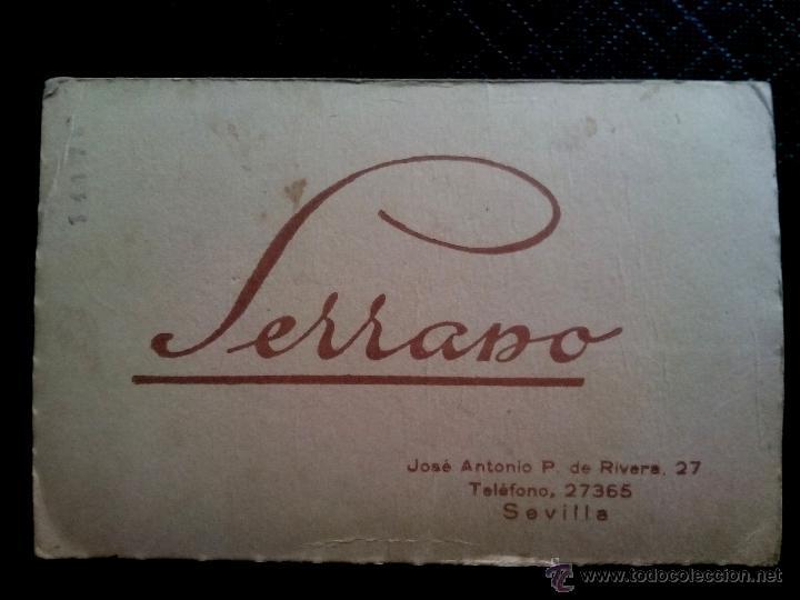 Postales: Tarjeta postal fotográfica dedicada retrato de chica estudio SERRANO Sevilla 1939 - Foto 2 - 50496820
