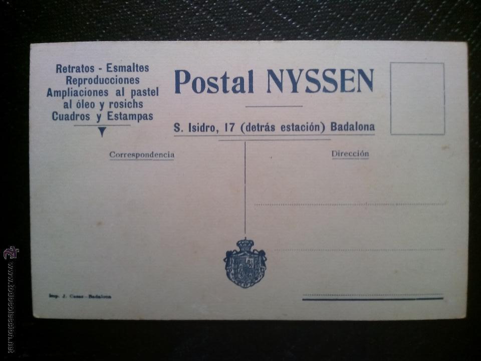 Postales: TARJETA POSTAL FOTOGRÁFICA RETRATO DE NIÑA SENTADA EN UNA SILLA ESTUDIO NYSSEN BADALONA - Foto 2 - 50544365