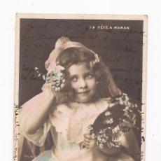 Postales: POSTAL ANTIGUA / NIÑA / LA FÉTE A MAMAN / BARCELONA / USADA , SELLADA Y TIMBRADA 1905. Lote 50754529