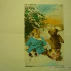 Postales: POSTAL NIÑO CON OSO-ESCRITA 1930--BB. Lote 51570852