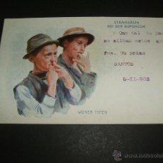 Postales: NIÑOS SILBANDO POSTAL 1903. Lote 51696431