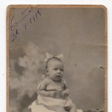 Postales: FOTOGRAFÍA ANTIGUA DE NIÑA. LA CORUÑA, 25 SEPTIEMBRE DE 1915.. Lote 52906592