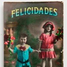 Postales: POSTAL COLOREADA DE NIÑOS. 1931. Lote 53309321
