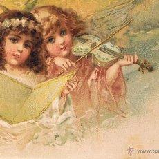 Postales: POSTAL ANGELES NIÑOS CON VIOLIN Y PARTITURA. UNION POSTAL UNIVERSAL. SIN CIRCULAR. Lote 53955953