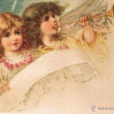 Postales: POSTAL ANGELES NIÑOS CON TROMPETA Y PARTITURA. UNION POSTAL UNIVERSAL. SIN CIRCULAR. Lote 53955977
